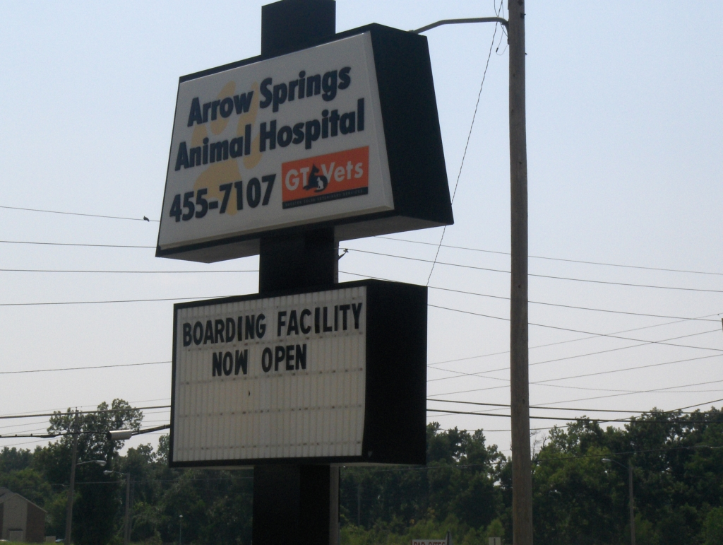 Marquee at Arrow Springs Animal Hospital - Broken Arrow, OK